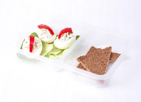 Ukázka krabičkové diety - snídaně